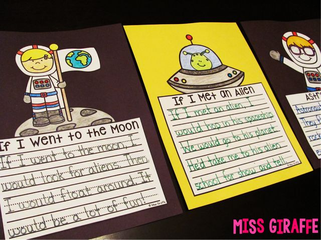Space writing crafts that are great activities to learn and write about space