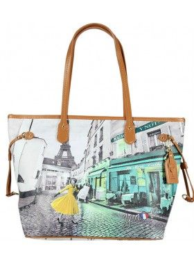 Carla Mosse Creations Paris Street Print Leather Bag. Buy @ http://thehubmarketplace.com/paris-y-not