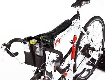 This handy bike thong is a great gift for the cyclist who logs those long indoor miles on the trainer. The handy towel straps on to the bike so it is out of the way of the cyclist but catches all the corrosive, smelly sweat, preventing it from damaging your bike or stinking up your floors. It includes 2 handy pockets for a remote and water bottle as well!
