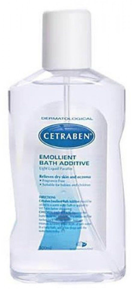 Miscellaneous Cetraben Emollient Bath Additive X 500ml Cetraben Emollient Bath Additive is an effective moisturising and protective oil for the sympathetic relief of red, inflamed damaged, dry or chapped skin especially when associated with eczema. http://www.MightGet.com/march-2017-1/miscellaneous-cetraben-emollient-bath-additive-x-500ml.asp