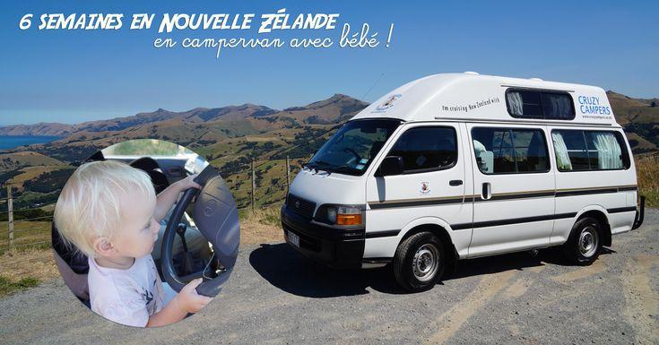 Récit complet, étape par étape de notre voyage en Nouvelle-Zélande avec notre bébé sur l'île du sud et du nord en campervan avec nos conseils pratiques.