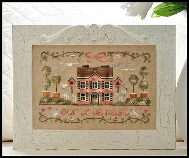 COUNTRY COTTAGE NEEDLEWORKSCrosses Stitches Pattern, Darling Nikki, Crossstitch, Nests Crosses, Birds House, Cross Stitch Patterns, Needle Art, Cross Stitches, Country Cottages Needlework