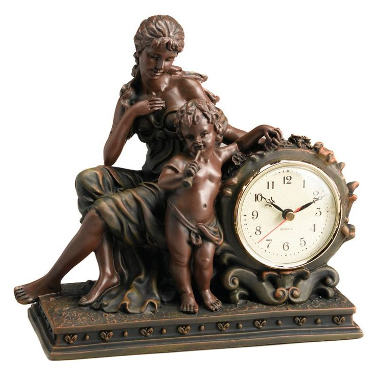 AA Importing Lady with Cherub Desktop Clock - 6576