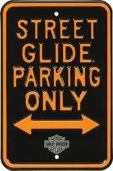 Harley-Davidson Street Glide Parking Sign