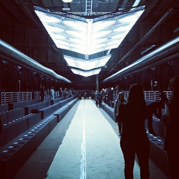 Calm before the storm #DBGshow #NYFW (via @dieselusa)