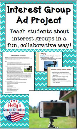 This collaborative interest group project will engage your students and bring the topic of special interests to life for any U.S. Government class!