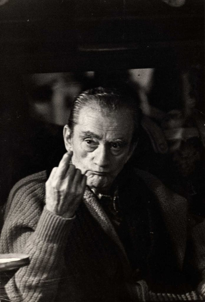 "Luchino Visconti on the set of ""L'innocente"" 1975"