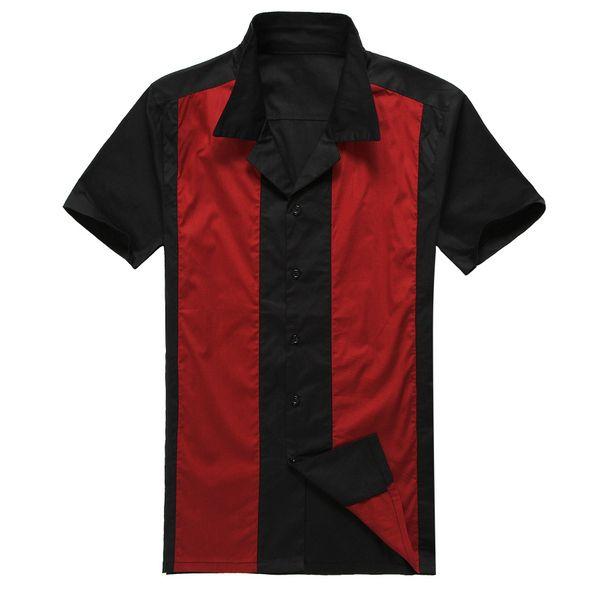 Livraison drop ship gros chemise de bowling american ouest style cow boy chemises rue punk rockabilly vêtements blusa camisas xl rouge dans Chemises Décontractées de Vêtements & accessoires sur AliExpress.com | Alibaba Group