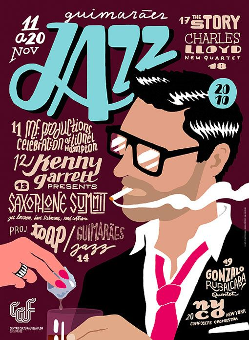 #houseofdesign   Guimarães Jazz 2010 Festival Posters, Designed by Martino & Jaña