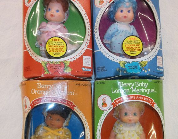 Berry Baby Dolls Set of 4 Strawberry Shortcake by MyLifeIsAHighway