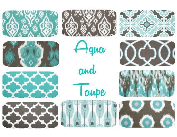 Hey, I found this really awesome Etsy listing at https://www.etsy.com/listing/184387724/aqua-taupe-pillow-cover-16-x-16-mix