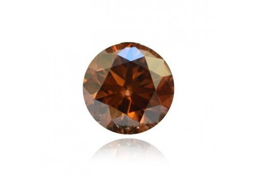 Loose-Brown-Fancy-Color-Natural-Round-VEREGOOD-Cut-Diamond-TCW-0-0738-Clarit-SI1