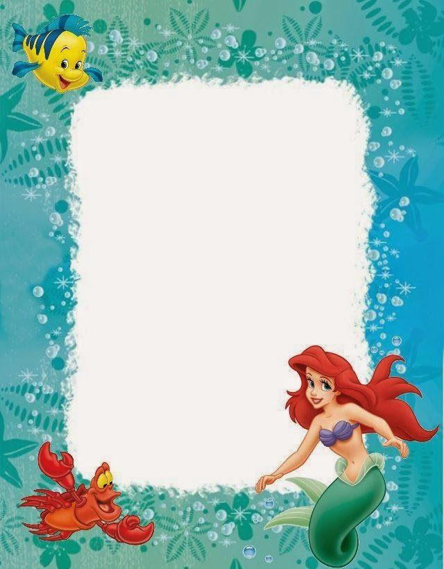 ArielUnder The Sea Party For Lilys Th Bday Mermaid Birthday - Ariel birthday invitations printable