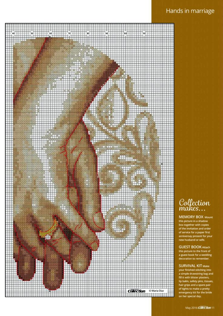 Hands In Marriage (Maria Diaz) From Cross Stitch Collection N°261 May 2016 4 of 4