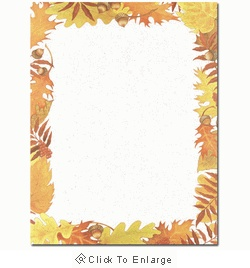 Fall Foliage Leaves Autumn Laser & Inkjet Printer Paper - $12.99
