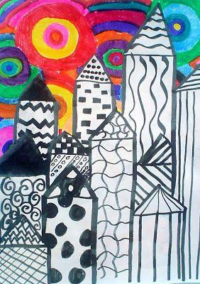 Kandinsky Inspired Cityscapes | Lessons from the K-12 Art Room