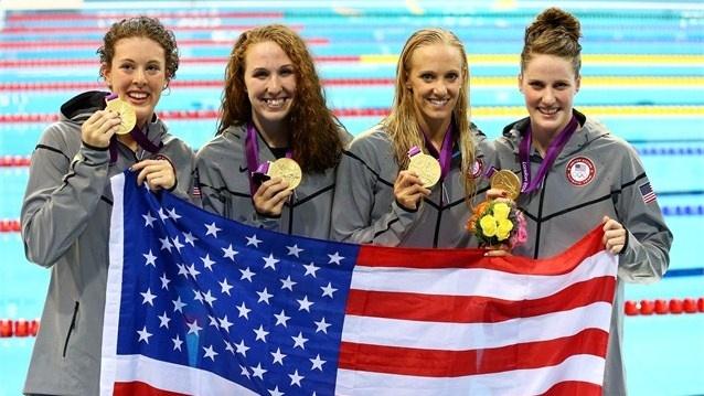 Women's 4x200m Freestyle relay team <3 (Allison Schmitt, Dana Vollmer, Shannon Vreeland and Missy Franklin)