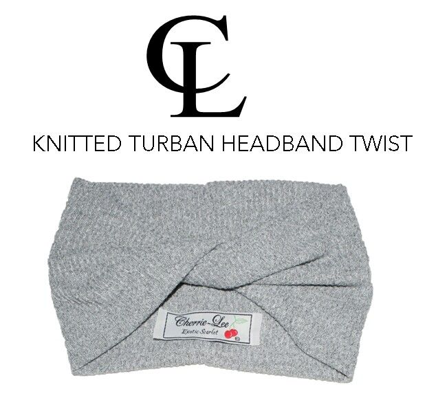 #CL Grey melange Knitted Turban headband