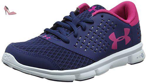 Under Armour UA GGS Micro G Assert 6, Chaussures de Running Compétition Fille - Gris - Grey (Steel), 39 EU