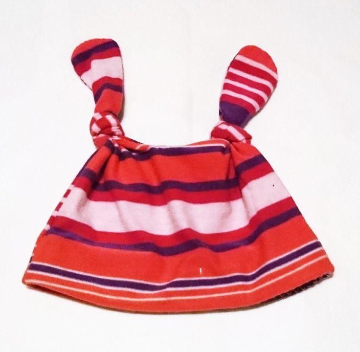 Newborn Baby Knot Hat-Made with a Cotton Knit- Unisex Stripe Print by TheCraftyMonkeyAU on Etsy