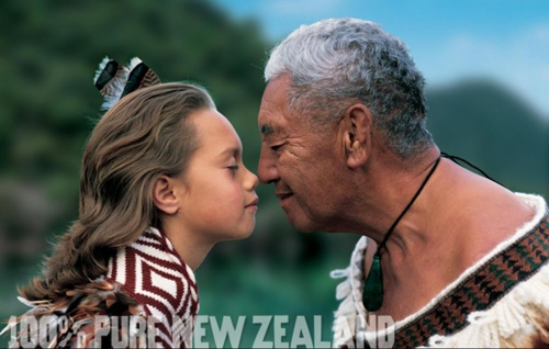 A hongi is a Maori kiss, or greeting, is where two people press their noses against the others. It is usually done twice for acquaintances, three times for friends and relatives and a prolonged press for very intimate occasions.   Kihi is the Maori word for kiss
