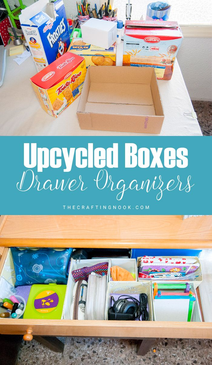 Upcycled Box Drawer Organizers The Crafting Nook Craft Storage