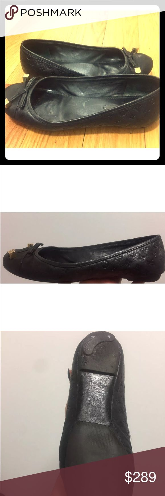 Louis Vuitton Monogram flare size 6/36 Louis Vuitton gorgeous ballerina flats. Resoled for durability. Size 6/36. In great condition Louis Vuitton Shoes Flats & Loafers
