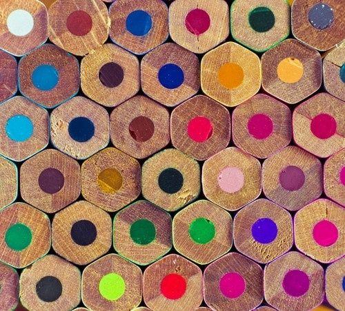 Colored pencil rainbow.