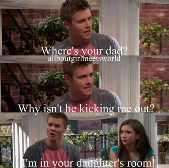 Girl Meets Texas Part 3. I think in this part, Lucas knew if Cory didn't kick him out then he no longer viewed him as a threat. Lucas was worried that Riley actually did view their relationship as brother and sister. And that scared him.