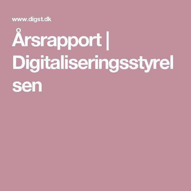 Årsrapport | Digitaliseringsstyrelsen