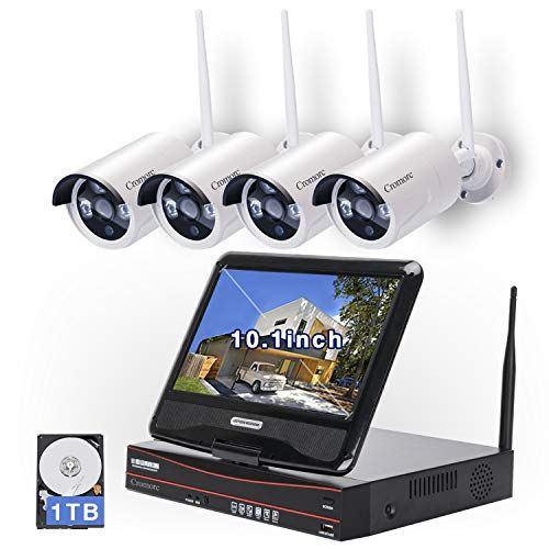 Cromorc Wireless Security Camera System 4CH 1080P WiFi NVR