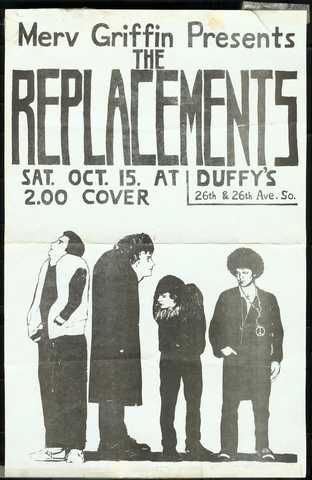 Replacements Show At Duffy S Poster Created By Chris Mars