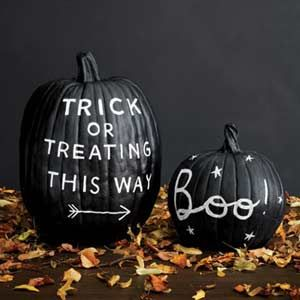 Gorgeous black and white pumpkin designs. No-carve!