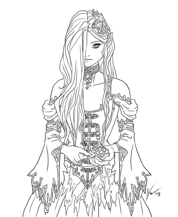 Goth chick Coloring Coloring