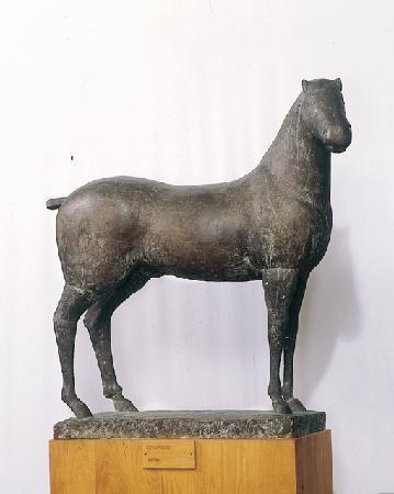 Escultura de Marino Marini (1901 - 1980), escultor e pintor italiano. A obra se encontra no museu Marino Marini, em Florença, província de Florença, região da Toscana, Itália.  Fotografia: Destination Partners.