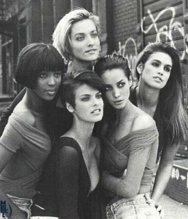 Supermodels Vogue UK Jan 1990