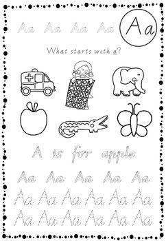 Alphabet beginning / initial sounds sheet Victorian Modern - All 26 letters!!