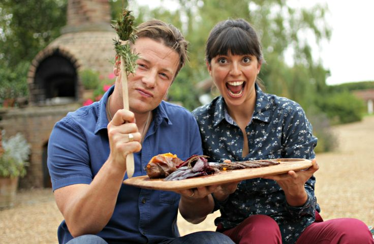 Cooking with the lovely Jamie Oliver at Essex a Skirt Steak and bbq veggies!
