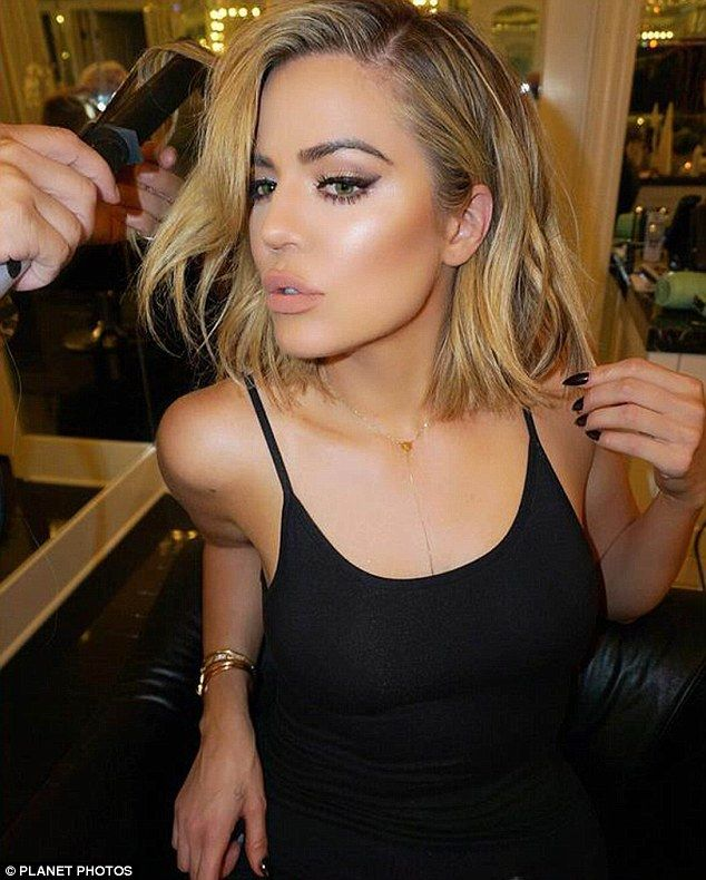 In the genes: Kendall's older sister Khloe Kardashian, 31, has been sporting a lob for months now, but she recently cut her hair even shorter (pictured)