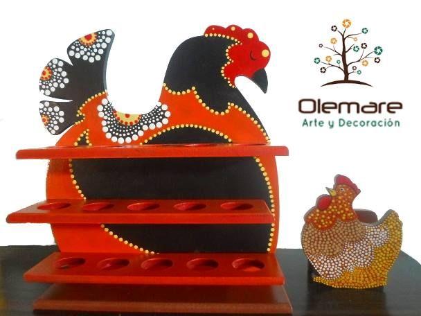 Gallina Decorativa Porta Huevos