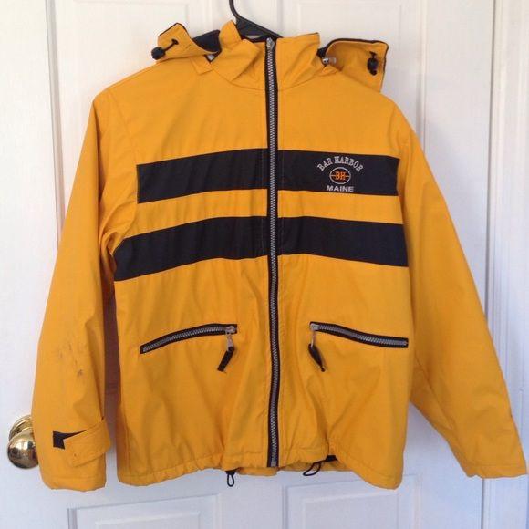 Rain jacket Bar harbor, Maine rain coat Jackets & Coats ...