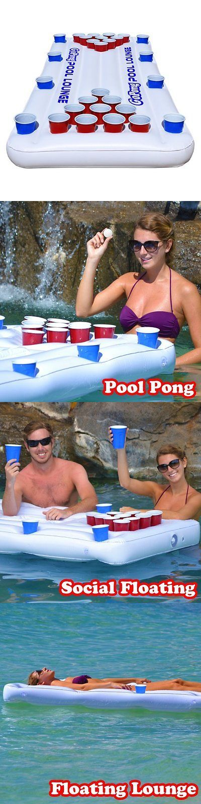 Other Table Tennis Ping Pong 97076: Gopong Pool Lounge Beer Pong Inflatable With Social Floating, White New BUY IT NOW ONLY: $45.08