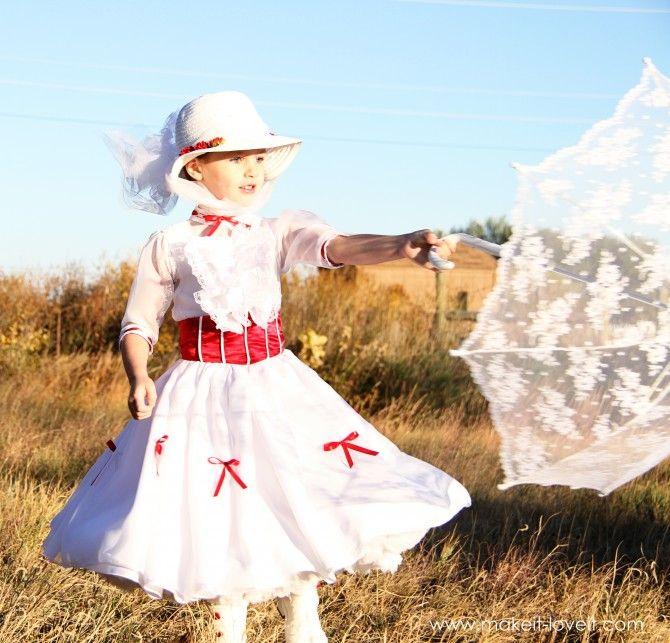Mary Poppins - Tutorial: Diy Costumes, Kid Halloween, Costumes Tutorials, Mary Poppins, Halloween Costumes Ideas, For Kids, Diy Halloween Costumes, Kids Halloween Costumes, Homemade Costumes