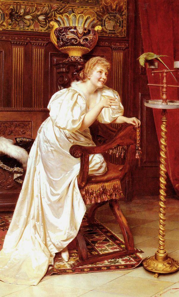 The Athenaeum - The Pet Parrot (Charles Joseph Frederick Soulacroix - ):