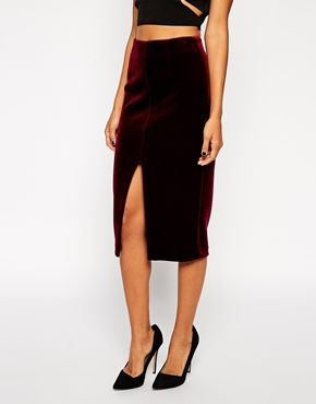 ASOS Pencil Skirt in Bonded Velvet ( The perfect AW piece!)