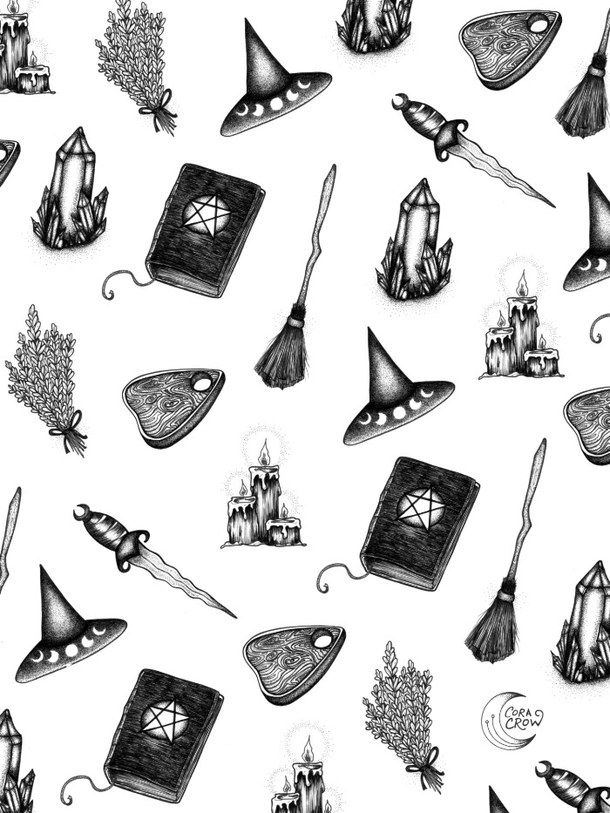 background, book of shadows, broom, drawings, halloween, witch, witchcraft