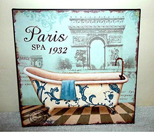 SHABBY CHIC VINTAGE FRENCH STYLE METAL WALL SIGN PLAQUE