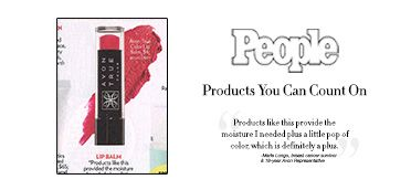 """Recently recommended in People Magazine, Marie Longo, a breast cancer survivor & #AvonRep, recommends Avon True Color Lip Balm as the product she can count on: """"Products like this provide the moisture I needed plus a little pop of color, which is definitely a plus."""""""
