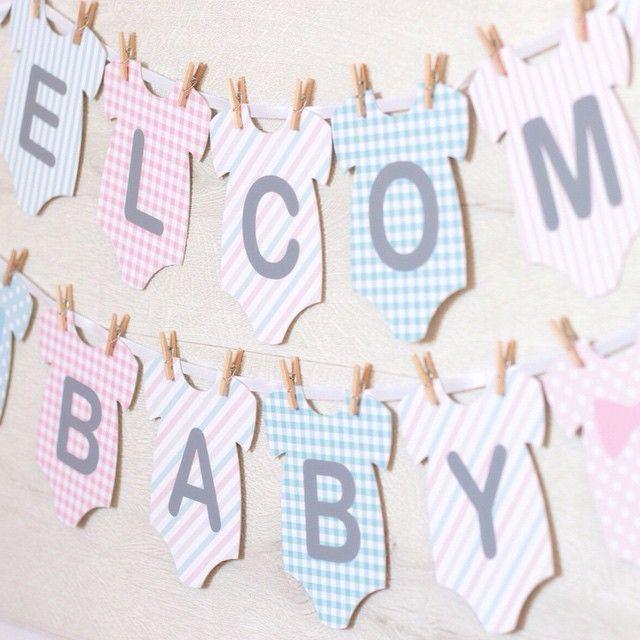 ベビーシャワーやマタニティフォトの装飾に人気のロンパースの形をしたガーランド♡パステルカラーがかわいらしいガーランドはご出産前後様々なシーンで使えておすすめです♡ベビーグッズ/ウェディンググッズ通販サイトEYMで販売中です。