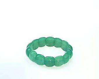 Pulsera de Jade verdes cuentas de Jade | Vintage pulsera Jade joyas | Pulsera de cuentas elástica Jade vintage | Pulsera de joyería vintage